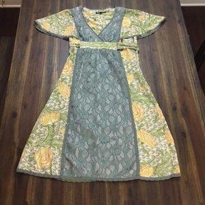 Betsey Johnson silk floral sheath dress